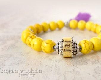Personalized Bracelet | Boho Tassel Bracelet with Names or Words | Mother's Gift