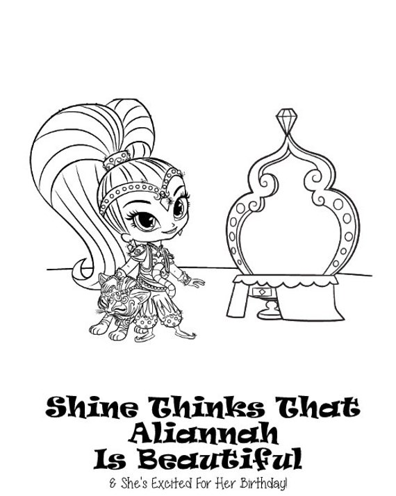 Shimmer And Shine Personalized Coloring Book