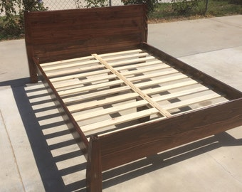 solid wood bed frame twin full queen or king - Wood Bed Frames Queen