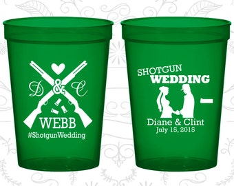 Shotgun Wedding Cups, Custom Stadium Cups, Country Cups, Southern Wedding, Redneck Cups, Plastic Cup (562)
