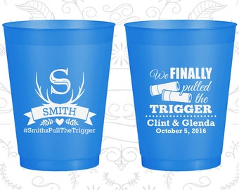 We finally pulled the trigger, Imprinted Frosted Cups, Shotgun Wedding, Antler, Blue Frosted Cups (564)