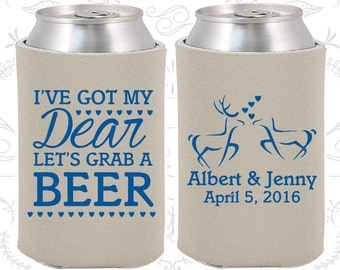 I got my Dear (C372) Lets Grab a Beer, Personalized Wedding Gift, Hunting Wedding Gift, Southern Wedding Gift, Wedding Can Coolers