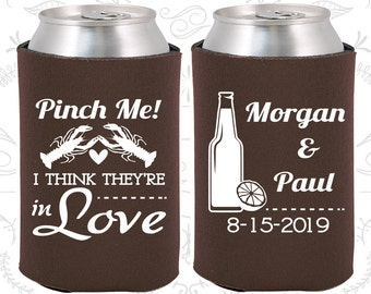 Brown Wedding, Can Coolers, Brown Wedding Favors, Brown Wedding Gift, Brown Party Decorations (337)