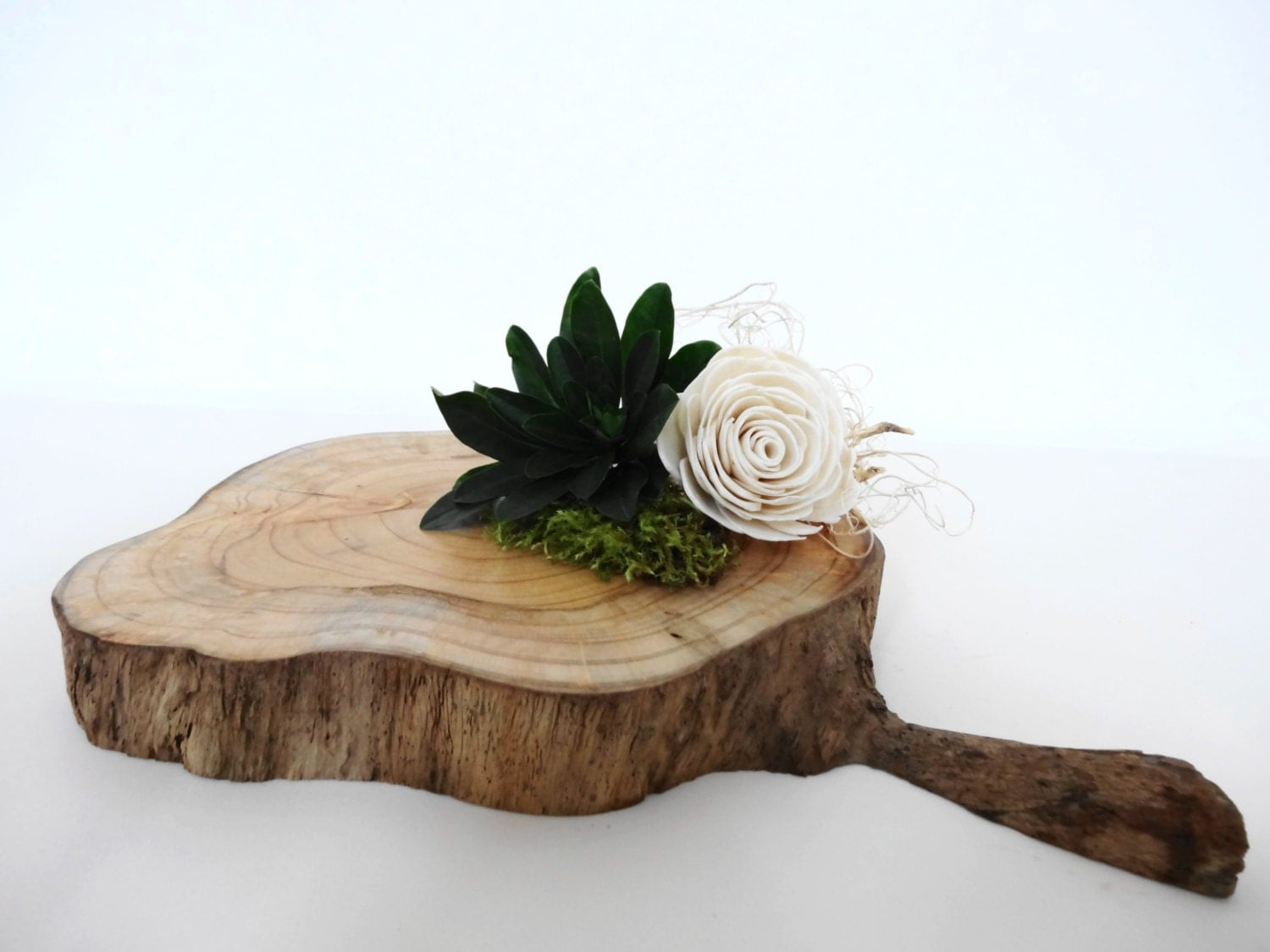 Wood slice slab wooden centerpiece platter