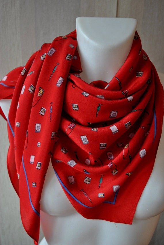 Vintage crepe scarves london