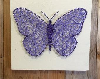 Butterfly String Art Butterfly Decor String Art Little Girls Room Decor Decor