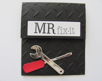 Father's Day Gift Card Holder, Birthday Gift Card Holder, Gifts for Him, Mr. Fix It Gift Card Holder, Father's Gift, Gifts for Her, Ms or Mr