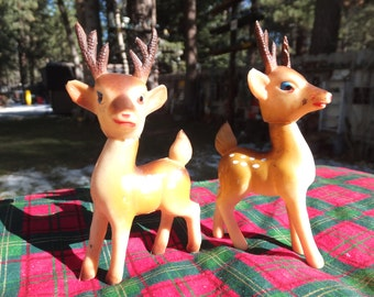 Sweet Rubber Reindeer - Soft with Rotating Heads