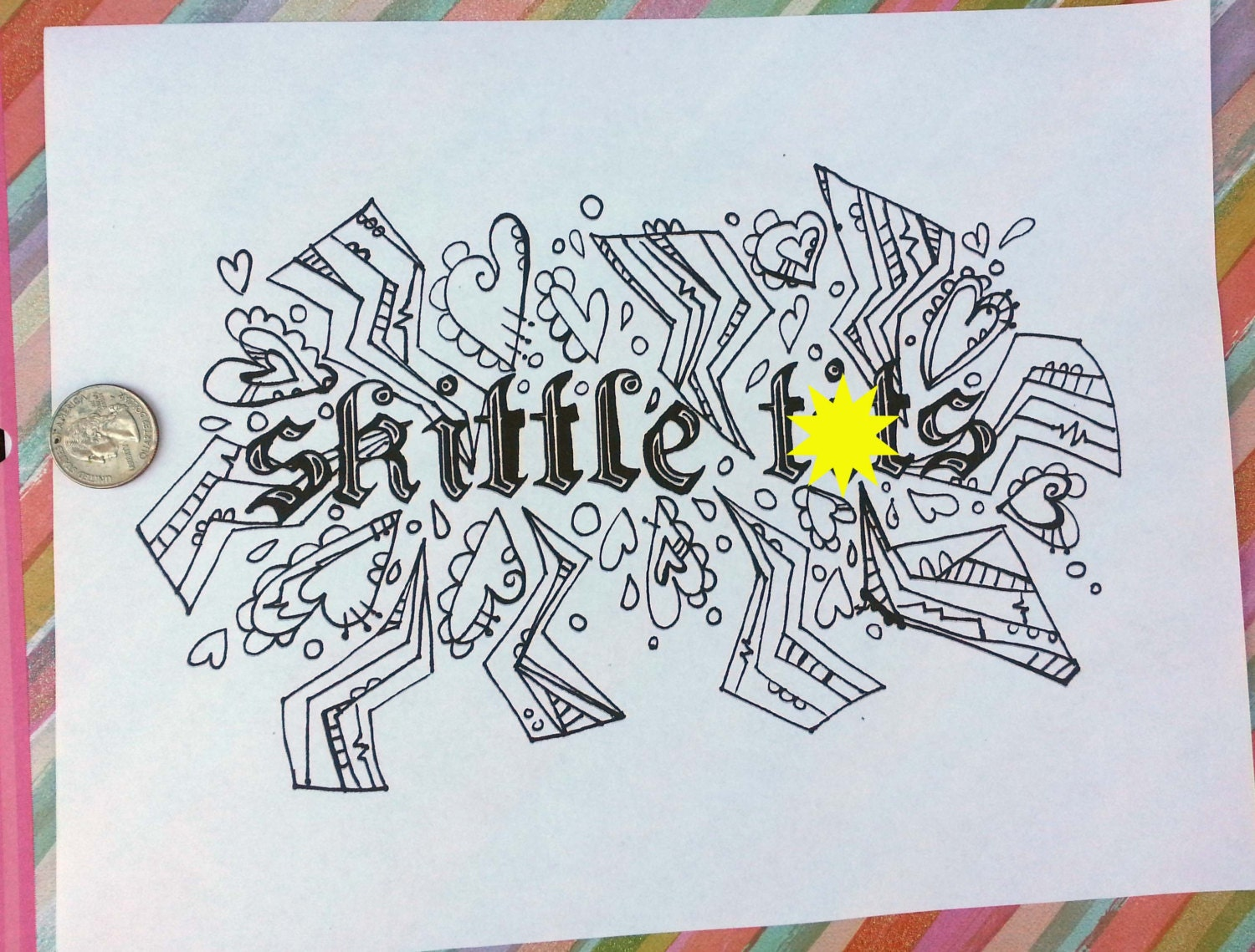 swear word coloring book pages skittle coloring