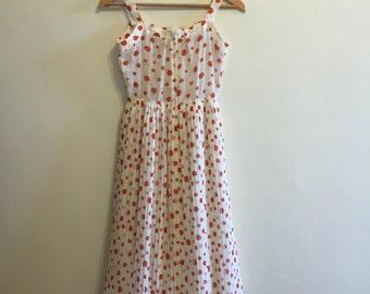 Breezy polka dot vintage dress small