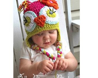 Girl Owl Hat, Owl Hat, Kids Hat,  Animal Hats, Children Hats, Baby Owl Hat, Crochet Owl Hat, Baby Hat, Toddler Hat, Photo Prop