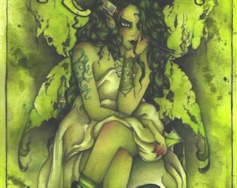 Absinthe Original Painting