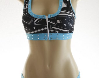 Exotic Dancewear Geo print 2 piece