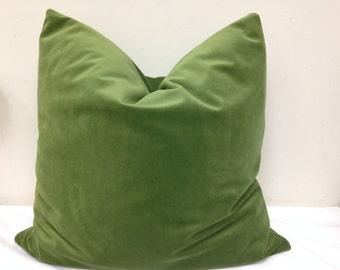 Velvet pillow/Green velvet pillow cover/ green pillow/velvet Lumbar/velvet Boudoir /velvet pillow cover/standard size pillow