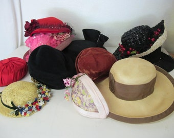Lot Vintage Hats Mad Men Hats