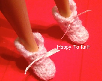 Fashion doll slippers / booties - several colors available. OOAK