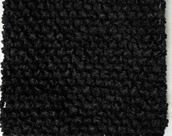"""BLACK  10"""" X 9"""" crochet tutu top  - tutu dress supply,tutu top,stretchy tutu dress top"""