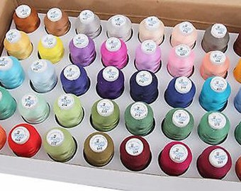 Machine Embroidery Thread - Set C Of 500 Meter Polyester Cones Spools New - Threadart