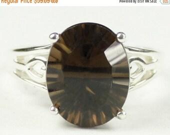 Summer Sale, 30% Off, SR139, Smoky Quartz, 925 Sterling Silver Ring