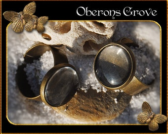 5 ring shanks bronze with 14mm Cabochons