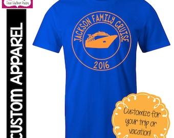 CUSTOM APPAREL: Custom Vacation T-Shirt, Family Vacation, Beach Vacation, Cruise