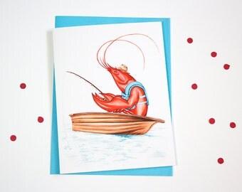Fishing Lobster card