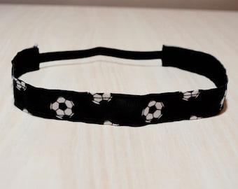 Non-Slip Headband - Soccer, Black