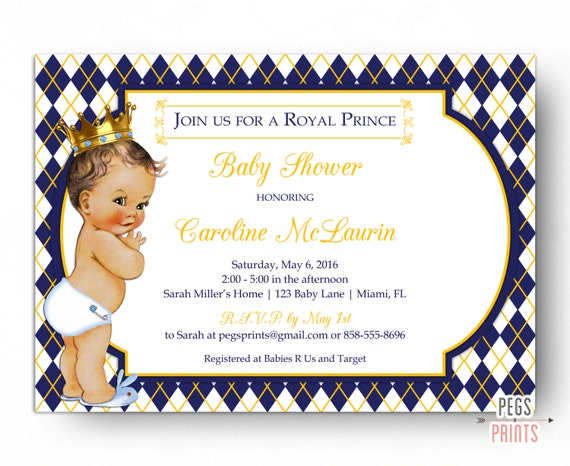 royal prince baby shower invitation  royal baby shower invitation, Baby shower invitations