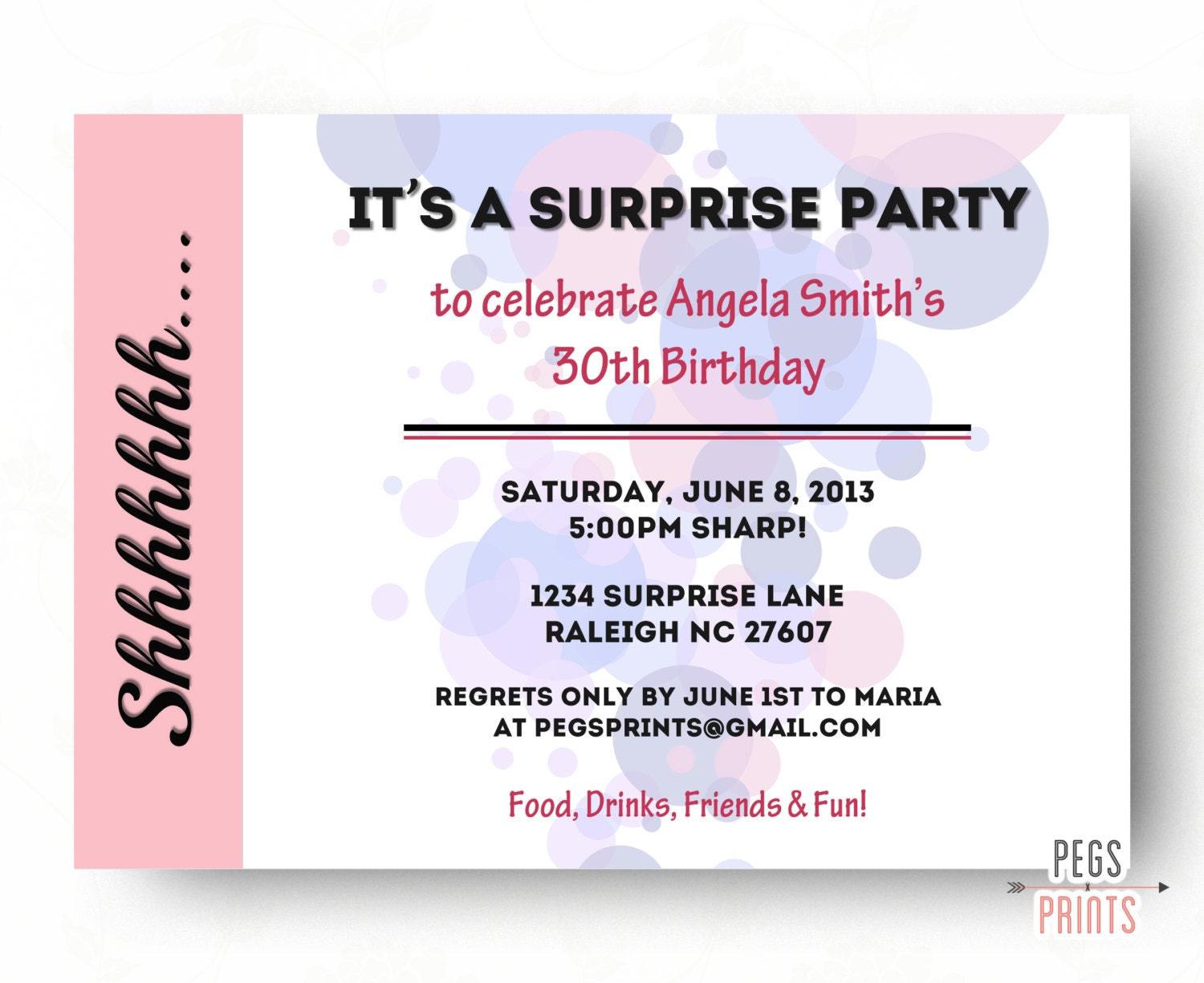 Adult Surprise Birthday Party Invitations Quotes