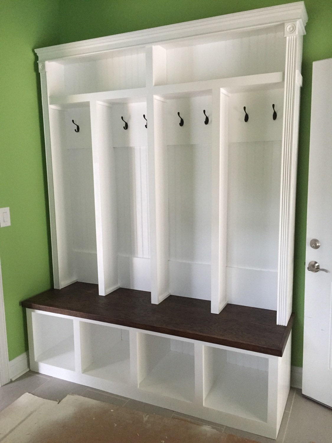 Entryway Locker Hall Tree Storage Locker Mudroom Dropzone