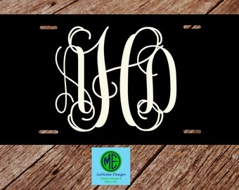 Custom License Plate. License Plate Frame. Monogram Car Tag. Classic Car Tag. Solid Color Monogram License Plate. Preppy License Plate.