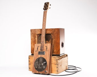 Drummond & Hammett Resophonic Cigar Box Guitar