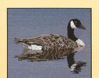 Canada Goose Cross Stitch Pattern Mirror Lake Vintage Needlepoint Vintage