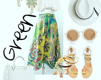 Ankara Maxi Skirt, African Clothing, Summer Maxi Skirt, wrap skirt, African Print Skirt, Long Maxi Skirt, African Wax, Custom Made