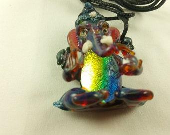 Ganesh - Glass Pendant Necklace