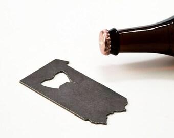 Wedding Gift Pennsylvania Steel Bottle Opener - Travel Souvenir, Groomsmen Gift, Wedding Favor, Christmas Gift