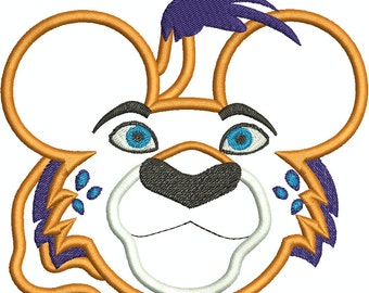 Character Inspired Skylar Mouse Head, Mouse Ears,  Family, Disney Trip Machine Embroidery Design 197