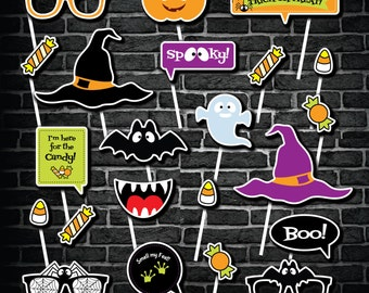 Halloween Photo Booth Props, Printable Photo Booth Props, Halloween DIY PhotoBooth Props,  Kid Friendly PhotoBooth Props
