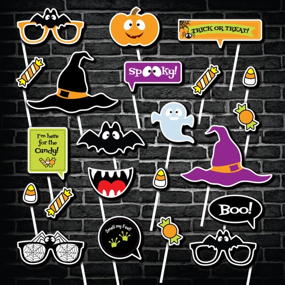 halloween photo booth props printable photo booth props halloween diy photobooth props kid friendly photobooth props - Halloween Photography Props