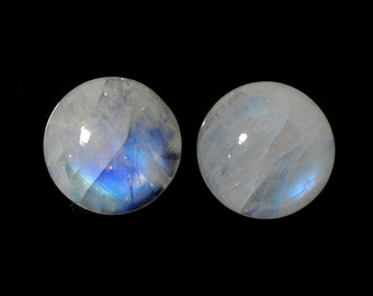 Rainbow Moonstone 15mm Round  Approximately 22 Carat Great Brilliance Nice Luster (8722)
