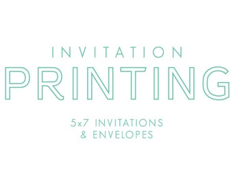 Professionally printed invitations with envelopes