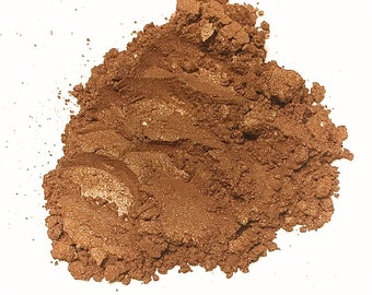 CARAMEL KISS Mineral Eye Shadow - Natural Makeup - Gluten Free Vegan Face Color