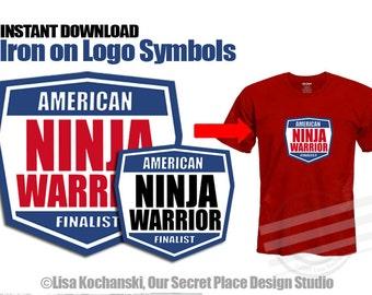 INSTANT DOWNLOAD American Ninja Warrior Party American Ninja Warrior Birthday American Ninja Warrior T-shirts Ninja Warrior Iron on transfer