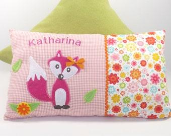 Name cushions Fox girl 25 cm x 40 cm