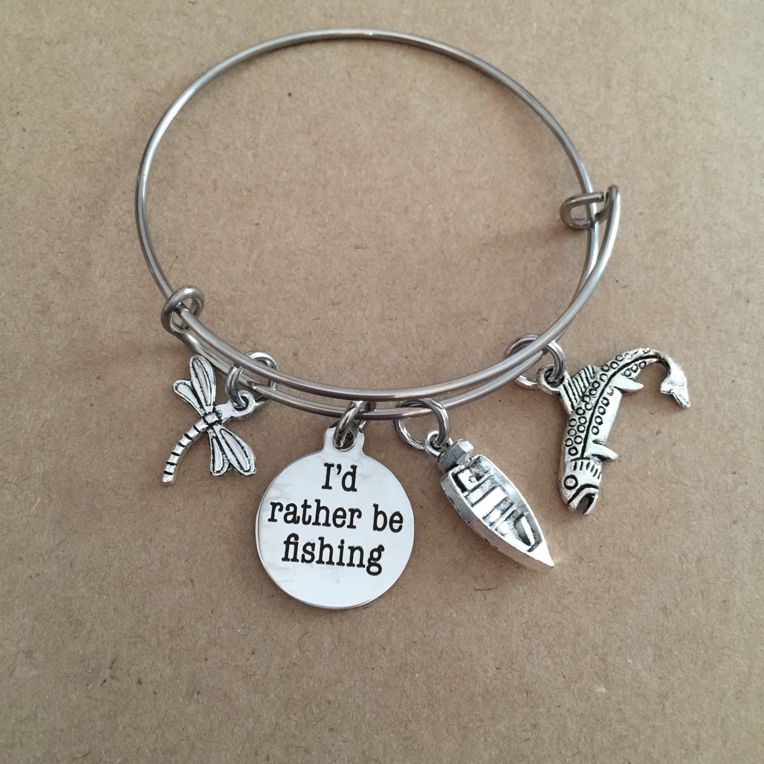I 39 d rather be fishing bangle for Rather be fishing