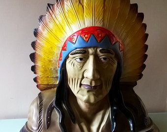 Enormous Bust of a Native American Chief