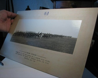 Large Original Photograph of the 14th/20th Hussars Inspection July 1926