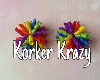 Rainbow Mini Korker Bows
