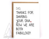 Fathers day card funny,funny fathers day card from daughter, fathers day card from kids, greeting cards birthday cards, dad card GC2