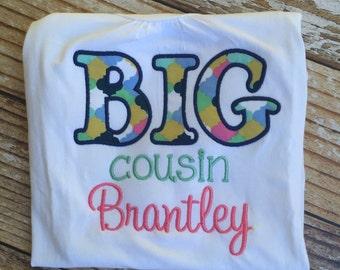 Big or Lil cousin/sister appliqued shirt